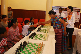 Simultaneous Chess Exhibition